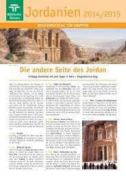 Jordanien 2014-15 - Biblische Reisen