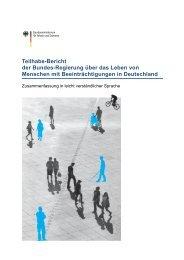 Teilhabe-Bericht: Zusammenfassung in leicht verständlicher Sprache