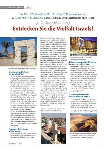 Israel: Entdecken Sie die Vielfalt Israels! - Convention-International