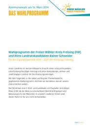 DAS WAHLPROGRAMM - Freie Wähler Bayern
