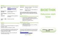 Bioethik Exkursion 2013 - Medizinische Universität Innsbruck