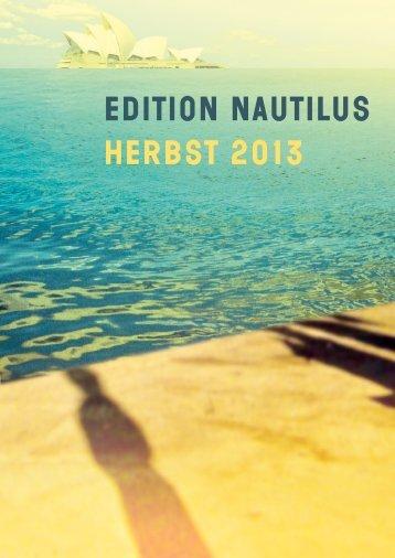 Vorschau Edition Nautilus Herbst 2013