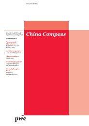 China Compass, Frühjahr 2013 - PwC