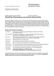 Häufig gestellte Fragen FAQs zur Zukunft der PKS - Kanton Schwyz