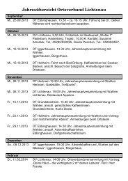 Jahresübersicht Ortsverband Lichtenau