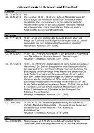 Jahresübersicht Ortsverband Hövelhof