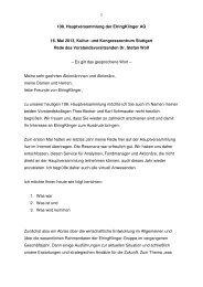 Rede des Vorstandsvorsitzenden - ElringKlinger AG