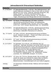Jahresübersicht Ortsverband Salzkotten