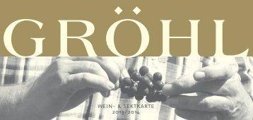 Weinkarte 2014 - Weingut Gröhl