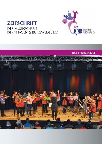 Nr. 54 · Januar 2014 - Musikschule Isernhagen & Burgwedel
