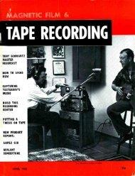 Tape Recording Magazine - AmericanRadioHistory.Com