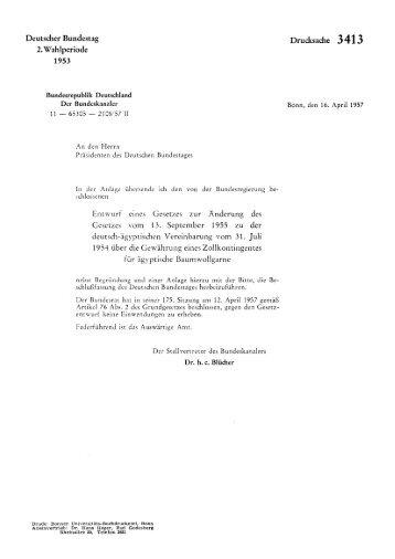 Deutscher Bundestag 2. Wahlperiode 1953 ... - bundestag.de