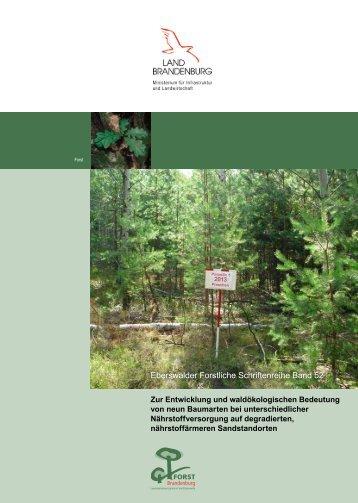 Eberswalder Forstliche Schriftenreihe Band 52 - Landesbetrieb ...