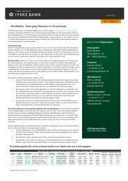 EM Weekly: Emerging Markets im Kreuzfeuer bietet ... - Jyske Bank