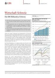 Wirtschaft Schweiz