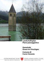 Landschaftsplan Piano paesaggistico Gemeinde Graun im ...