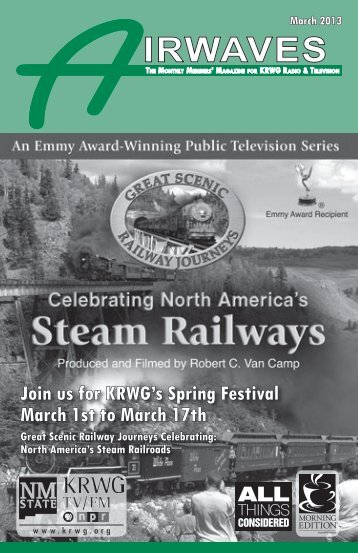 Join us for KRWG's Spring Festival March 1st to March 17th