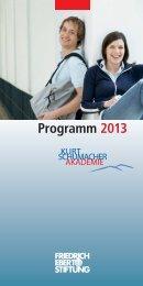 Programm 2013 (PDF-Version) - Bibliothek der Friedrich-Ebert-Stiftung