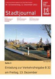 Stadtjournal Ausgabe 50/2013 - Stadt Bad Saulgau