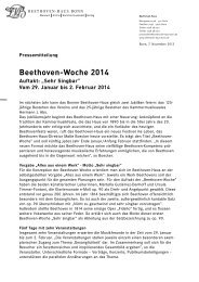 PM Beethoven-Woche - Beethoven-Haus Bonn