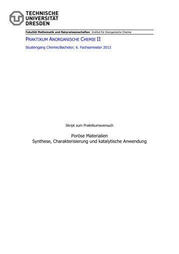 Poröse Materialien Synthese, Charakterisierung und katalytische ...