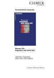 Werner Eck Augustus und seine Zeit - C.H. Beck