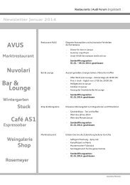 Newsletter - Mövenpick Restaurants