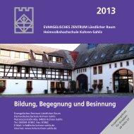 Unsere Veranstaltungen und Kurse 2013 - Diakonie Leipziger Land