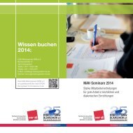 MAV-Seminare 2014_Layout 1 - DGB-Bildungswerk NRW e.V.