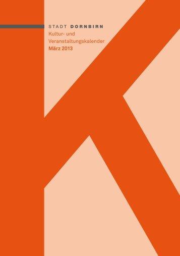 Kultur- und Veranstaltungskalender März 2013