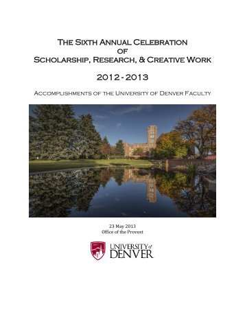 2013 Faculty Recognition - University of Denver