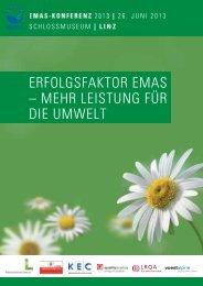 Tagungsband zur EMAS-Konferenz 2013