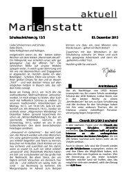 Schulnachrichten Jg. 15/3 Schulnachrichten Jg. 15/3 03. Dezember ...