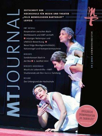 MT-Journal Nr. 35 - Hochschule für Musik und Theater »Felix ...