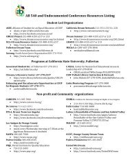 AB 540 and Undocumented Conference Resources Listing