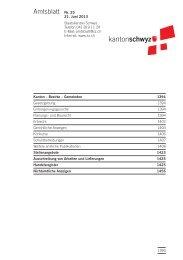 Amtsblatt Nr. 25 vom 21. Juni 2013 (262 KB), S. 1393 - Kanton Schwyz