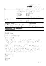 Bebauungsplan 1187V - Drucksache ... - Stadt Wuppertal