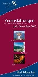 Veranstaltungen - Bad Reichenhall