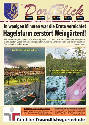Hagelsturm zerstört Weingärten!! - Gemeinde Deutsch Schützen ...