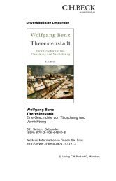 Theresienstadt Eine Geschichte von Täuschung und ... - C.H. Beck