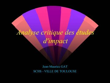 Analyse critique des études d'impact - Centre d'information et de ...