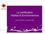 La certification Habitat & Environnement - Centre d'information et de ...