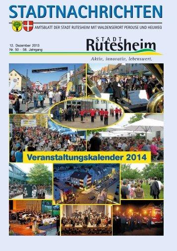 Ausgabe Nr. 50 vom 12. Dezember 2013, Teil I - Rutesheim