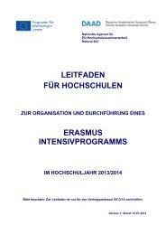 Leitfaden für IP-Koordinatoren 2013/14 - eu-DAAD