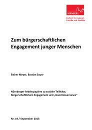 Zum bürgerschaftlichen Engagement junger ... - Stadt Nürnberg