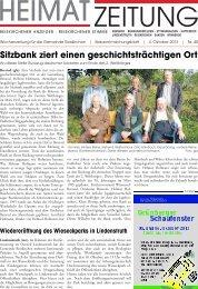Sitzbank ziert einen geschichtsträchtigen Ort - Gießener Allgemeine