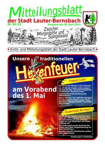 itteilungsblatt - Stadt Lauter / Sachsen