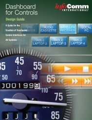 Dashboard for Controls Design Guide - InfoComm
