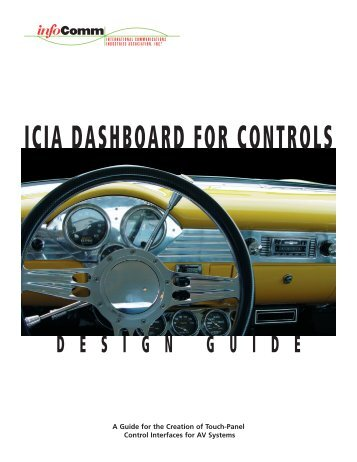 ICIA DASHBOARD FOR CONTROLS - InfoComm