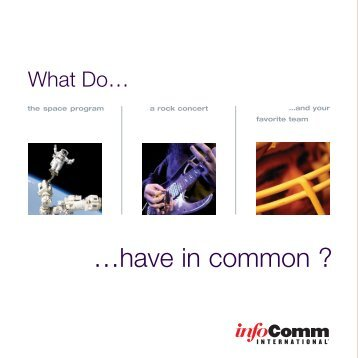 AV Careers Brochure - InfoComm